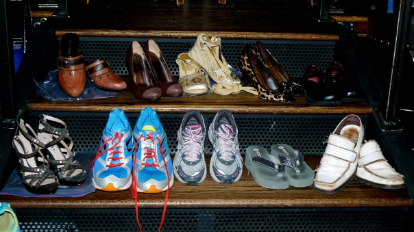 A few of the shoes we collected for charity!